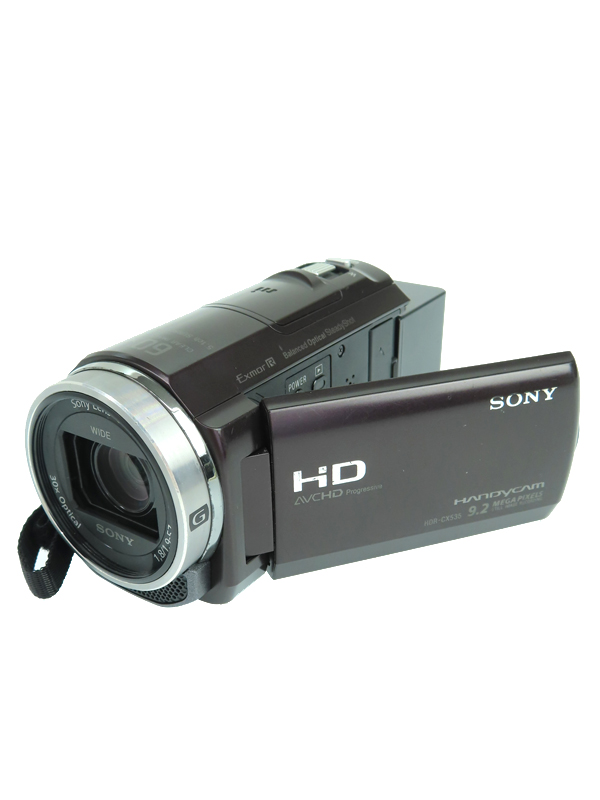 【SONY】ソニー『デジタルHDビデオカメラレコーダー ブラウン』HDR-CX535 2014年 229万画素 空間光学手ブレ補正 デジタルビデオカメラ 1週間保証【中古】b05e/h10B