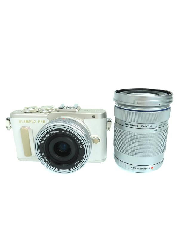 【OLYMPUS】オリンパス『OLYMPUS PEN E-PL8 EZダブルズームキット ホワイト』1605万画素 3.0型 Wi-Fi ミラーレス一眼カメラ 1週間保証【中古】b05e/h12AB