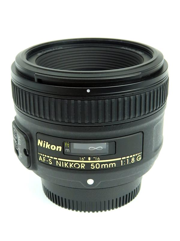 【Nikon】ニコン『AF-S NIKKOR 50mm F1.8G』FXフォーマット 手ブレ補正 フルサイズ対応 標準 一眼レフカメラ用レンズ 1週間保証【中古】b03e/h20AB