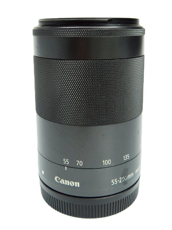 【Canon】キヤノン『EF-M55-200mm F4.5-6.3 IS STM』EF-M55-200ISSTM ブラック 88-320mm相当 ミラーレス一眼カメラ用レンズ 1週間保証【中古】b03e/h08B