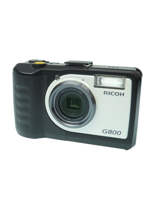 【RICOH】リコー『G800』 防水/防塵/耐衝撃 タフな現場用 1600万画素 広角28mm 光学5倍ズーム CALSモード SDXC 業務用デジタルカメラ 1週間保証【中古】b06e/h16AB