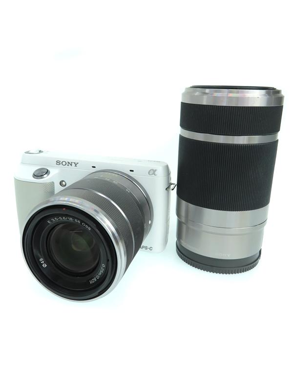 【SONY】ソニー『α NEX-F3ダブルズームレンズキット ホワイト』NEX-F3Y(W) 1610万画素 3インチ デジタル一眼カメラ 1週間保証【中古】b03e/h20B