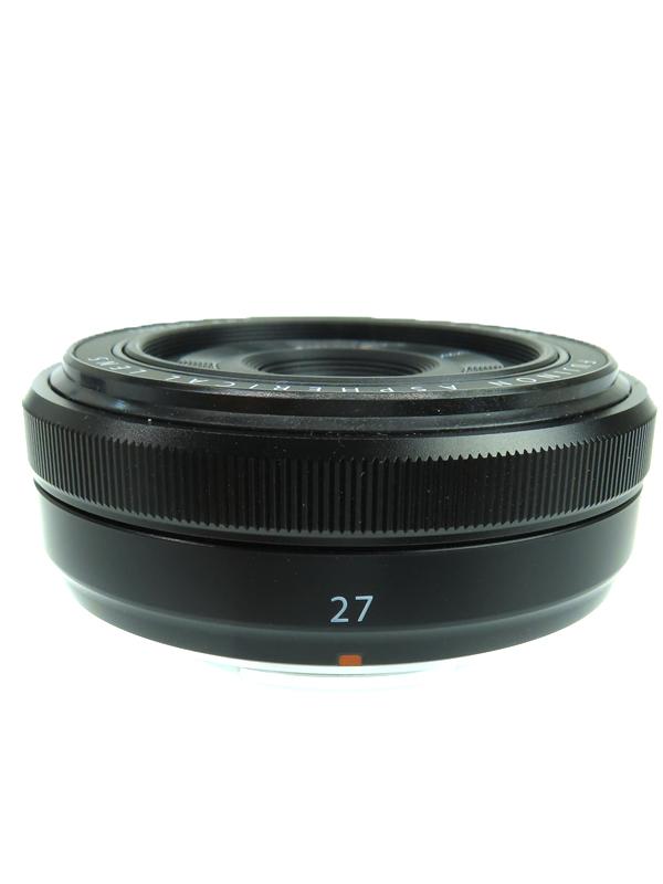 【FUJIFILM】【最薄・最軽量】フジフィルム『フジノンレンズ XF27mmF2.8 ブラック』3インチ 光学0.1倍 週間保証【中古】b03e/h04AB