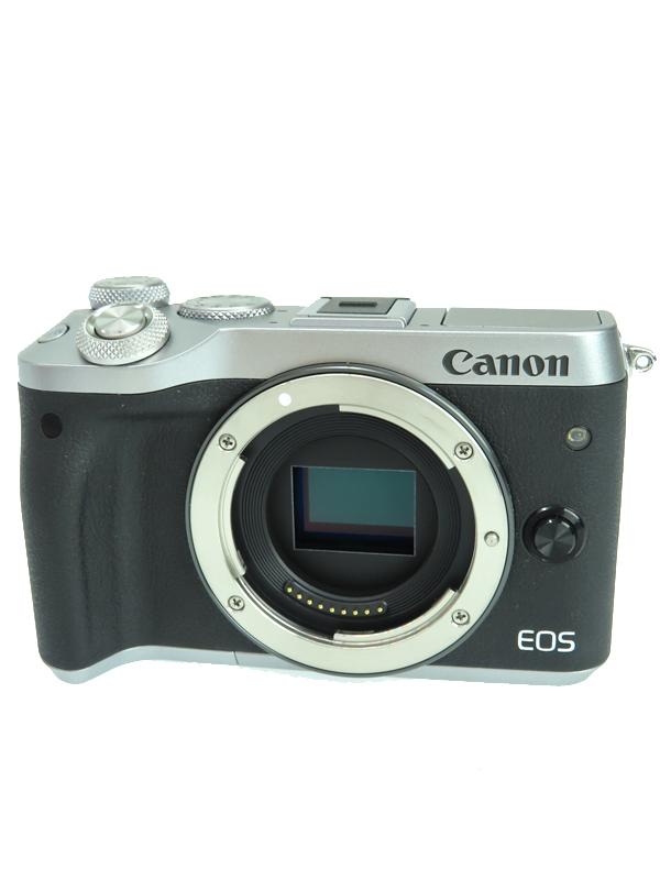 【Canon】キヤノン『EOS M6 ボディ』1725C004 ミラーレス一眼カメラ シルバー 2420万画素 カメラ 1週間保証b06e/h17AB:高山質店