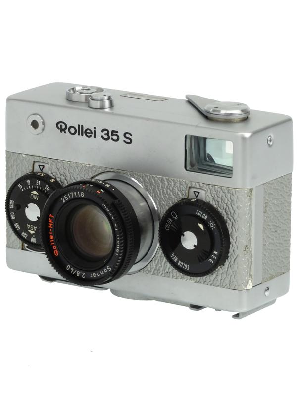ついに入荷 Rollei ローライ 35S シルバー 1週間保証 本日限定 ゾナー40mmF2.8 中古 コンパクトフィルムカメラ