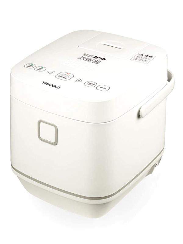 【THANKO】サンコー『糖質カット炊飯器 匠 SLCABRCK』TELE-782179 ホワイト 4合 マイコン 1週間保証【新品】