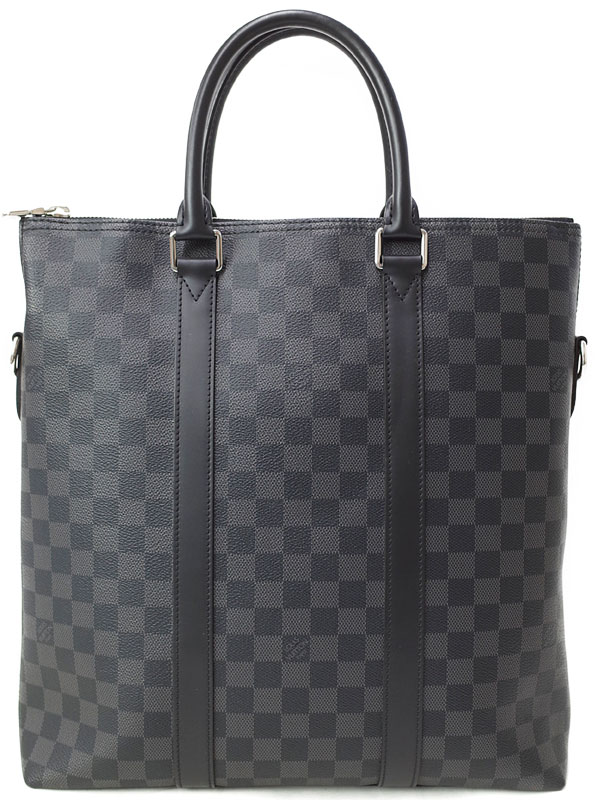 <title>LOUIS VUITTON ルイヴィトン ダミエ グラフィット 休日 アントン トート N40000 メンズ トートバッグ 1週間保証 中古</title>