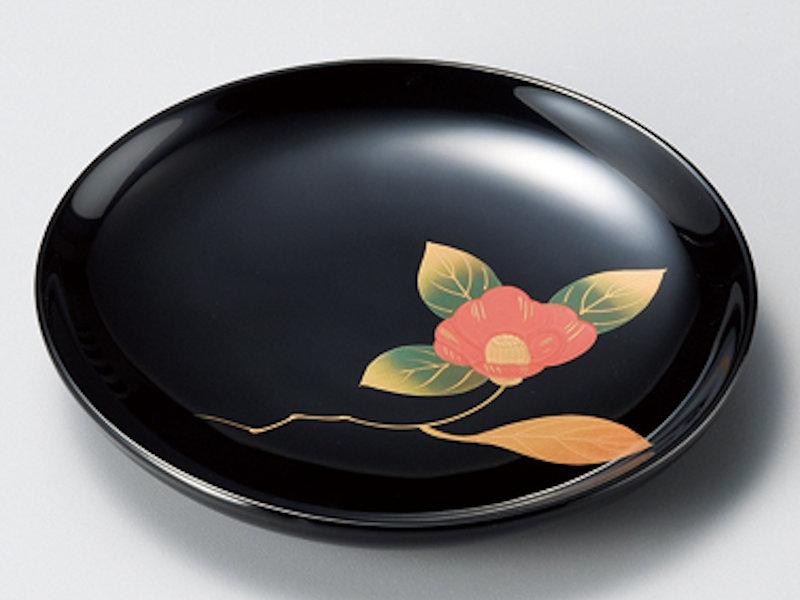 椿 銘々皿 黒 5枚