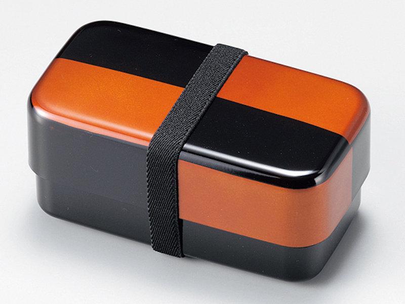 食洗機対応:市松白檀 長角弁当箱 1個