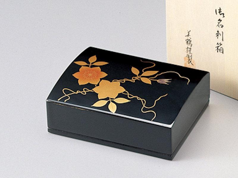 鉄仙 名刺箱(大) 黒 1個