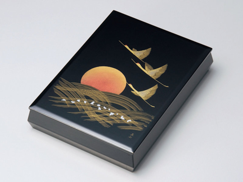 沈金日の出鶴 文庫(A4サイズ) 黒 1個