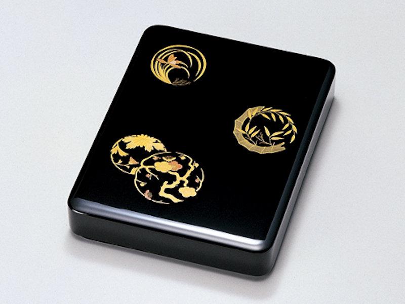 花丸 硯箱 黒 1個