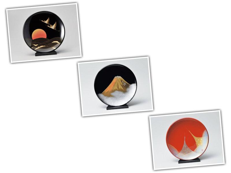 飾り皿(スタンド付) 各色 1個