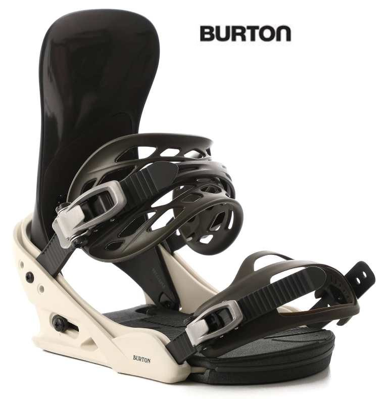 【19-20】BURTON BINDING Re:Flex MISSION Sサイズ バートン ミッション OFF WHITE/BLACK