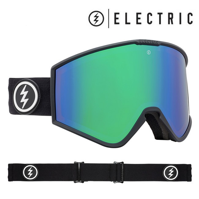 2019-2020 ELECTRIC エレクトリック ゴーグル ジャパンフィット 日本正規品 KLEVELAND MATTE BLACK BROSE/GREEN CHROME CONTRAST