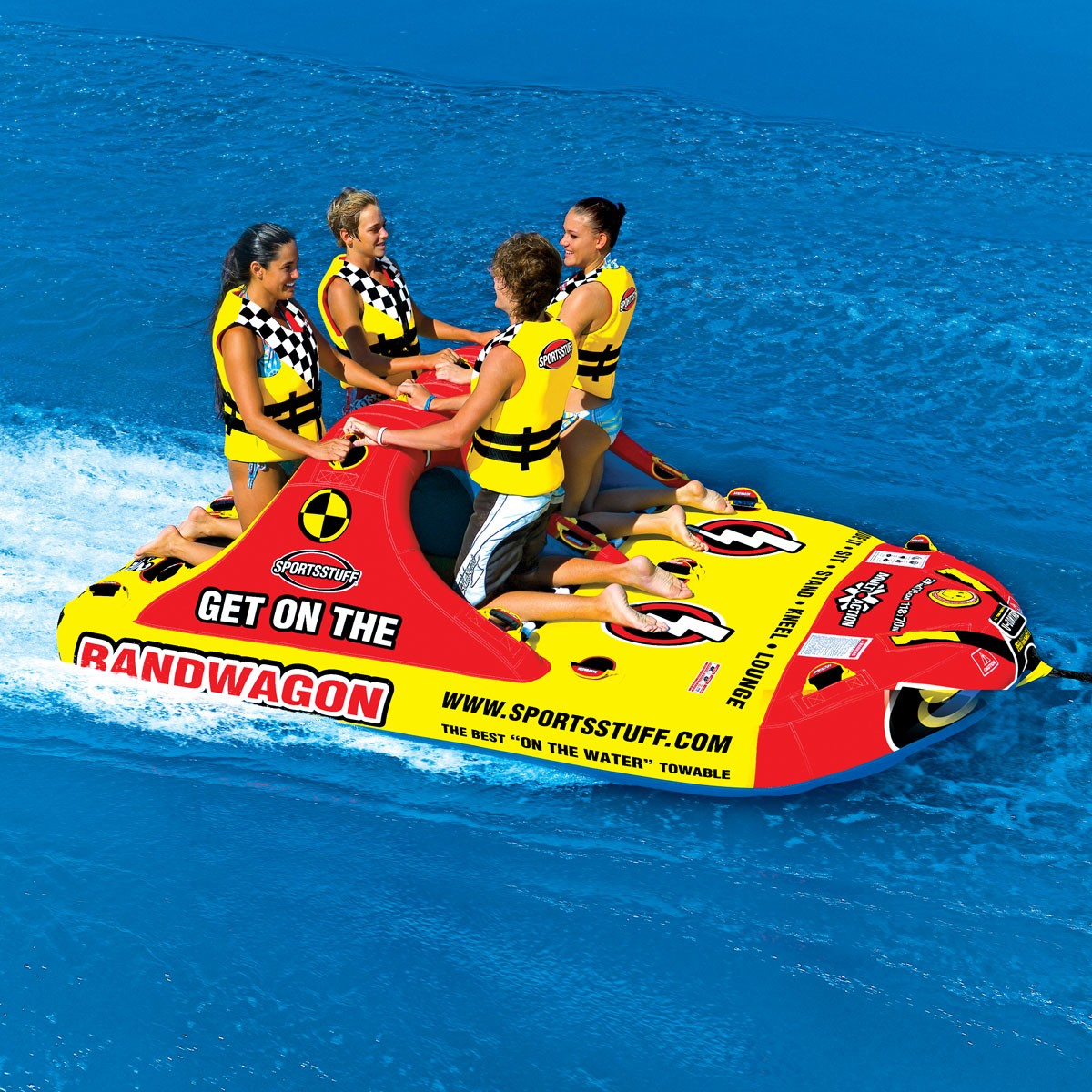 SPORTSSTUFF BANDWAGON 2+2 4人乗り バンドワゴン トーイングチューブ/ウォータートーイ/バナナボート/53-1620