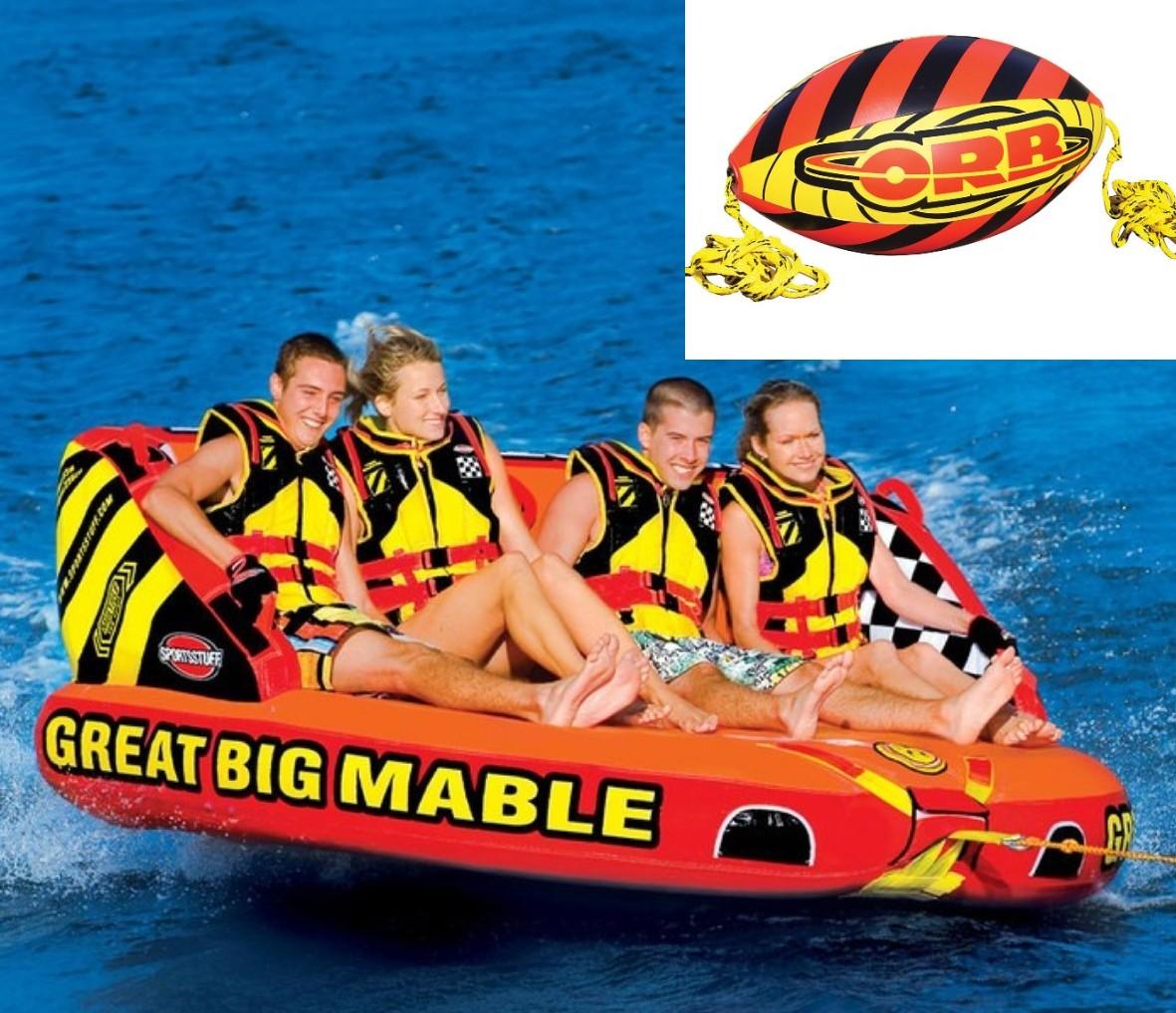 SPORTSSTUFF GREAT BIG MABLE 4人乗り グレート ビッグ マーブル トーイングチューブ/ウォータートーイ/バナナボート/スポーツスタッフ 53-2218 ブースターボール付き