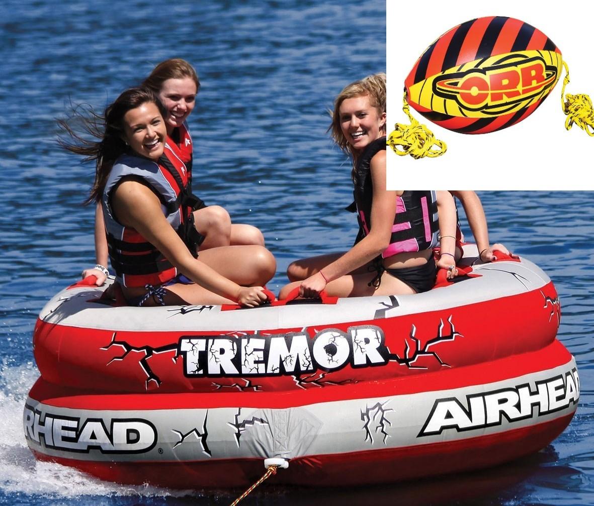 AIRHEAD TREMOR 4人乗り トレマー トーイングチューブ/ウォータートーイ/バナナボート AHTM4 ブースターボール付き