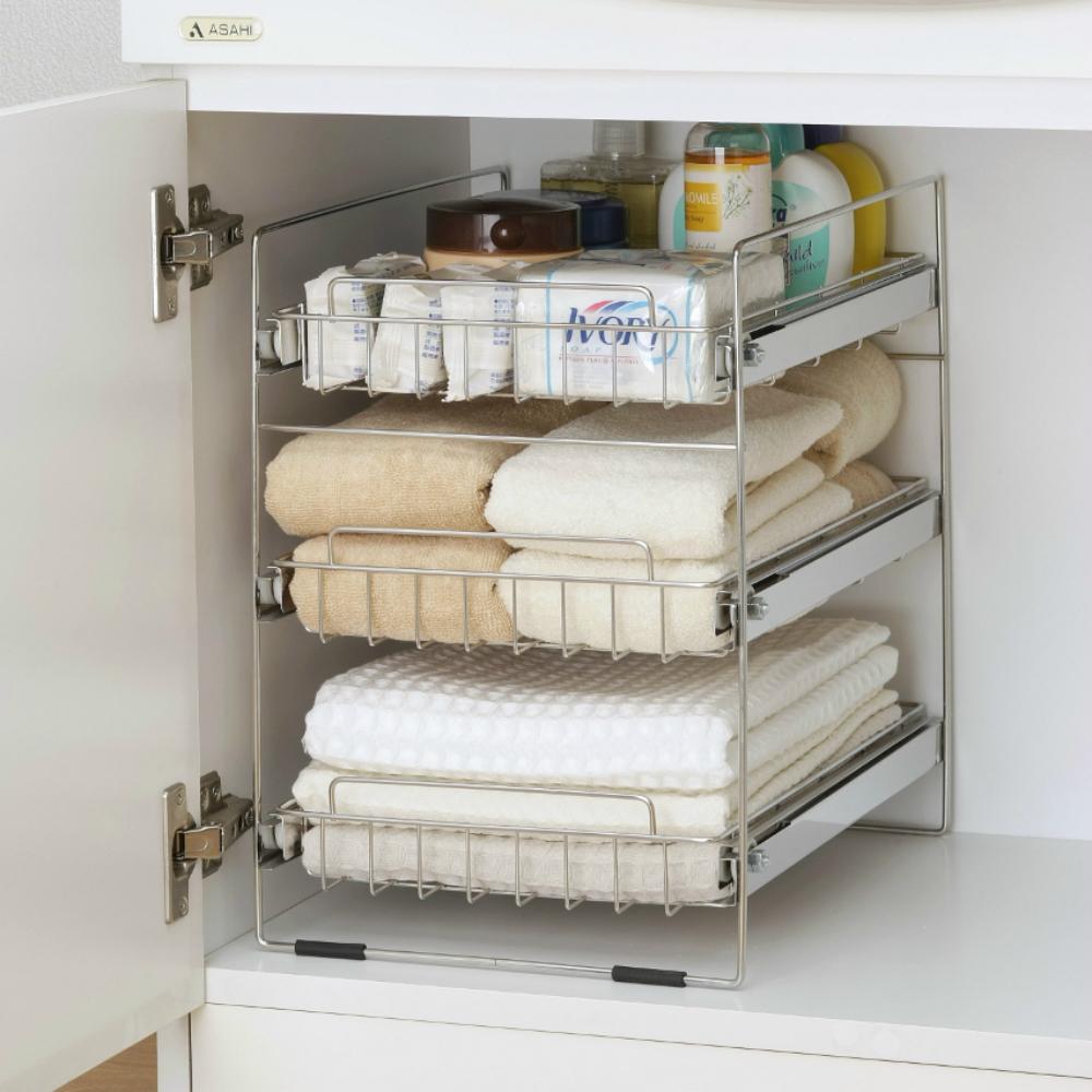 洗面 台 下 収納 洗面台の下の収納のアイデア!100均での収納実例を紹介!