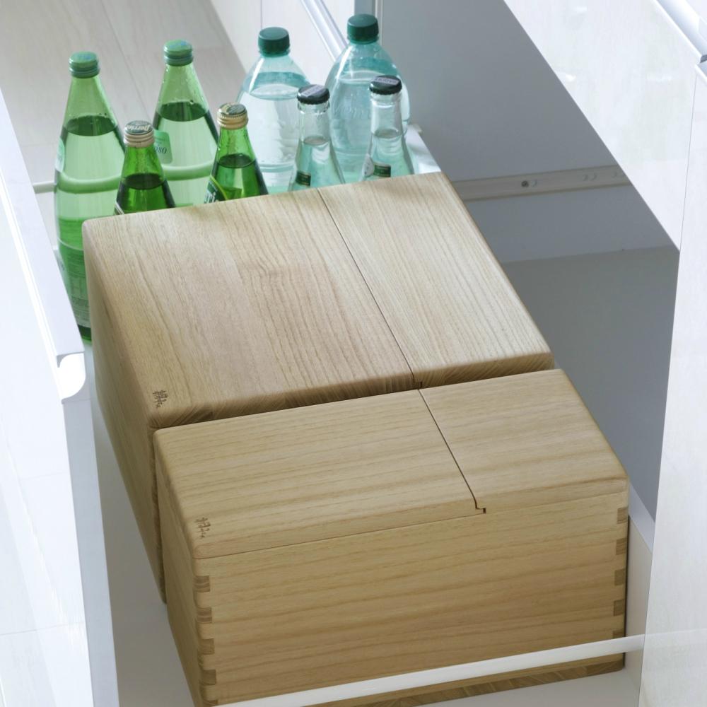 【送料無料】【あす楽】桐の米びつ イシモク キッチン下 シンク下 収納 1合マス付き 5kgタイプ DEAL