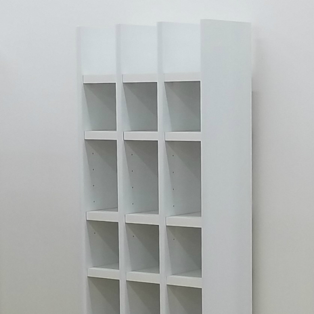 効率よく収納できるブックシェルフ 大容量本棚 おしゃれ スッキリ 北欧 日本製 国産 3列スリムタイプ