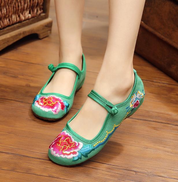 d5cdc3dbfb946 レディースシューズチャイナ靴手作り北京布靴ローヒールエスニックチャイナシューズ痛くないカジュアルシューズ