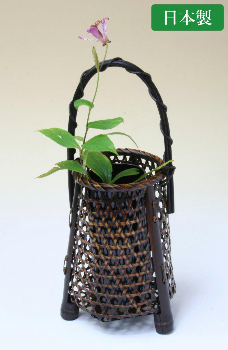 由布竹花篭 かすみ草 国産 日本製 竹製 花を彩る インテリア 部屋が華やぐ 竹かご 篭 花瓶 置き物 花立て 小物雑貨