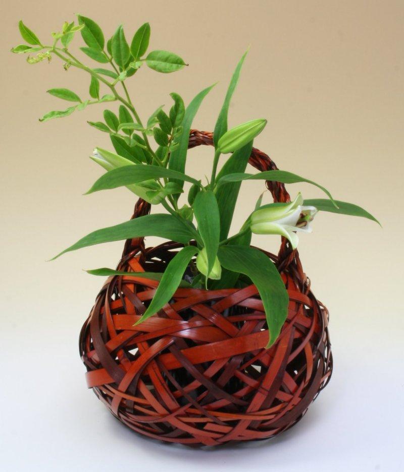 由布竹花篭 ここのえ 国産 日本製 竹製 花を彩る インテリア 部屋が華やぐ 竹かご 篭 花瓶 置き物 花立て 小物雑貨
