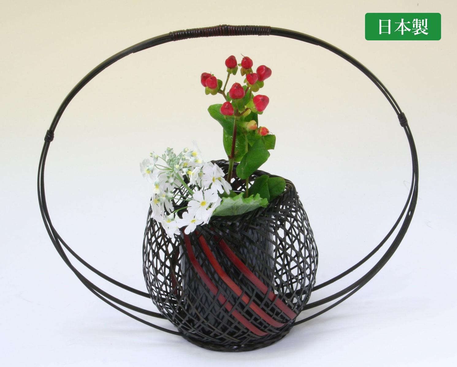 由布竹花篭 みやこわすれ 国産 日本製 竹製 花を彩る インテリア 部屋が華やぐ 竹かご 花瓶 置き物 花立て 小物雑貨