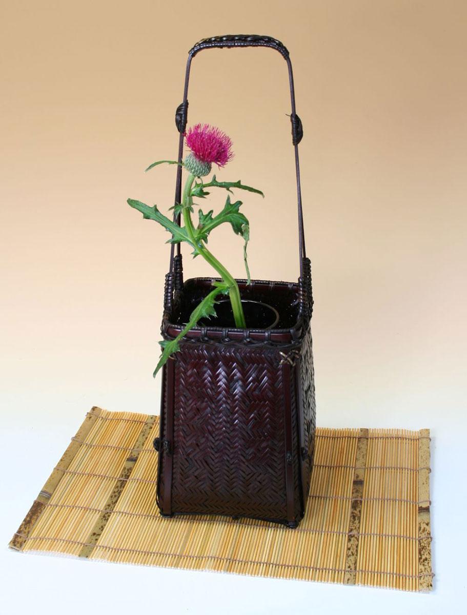 由布竹花篭 つみくさ マット付き 国産 日本製 竹製 花を彩る インテリア 部屋が華やぐ 竹かご 篭 花瓶 置き物 花立て 小物雑貨