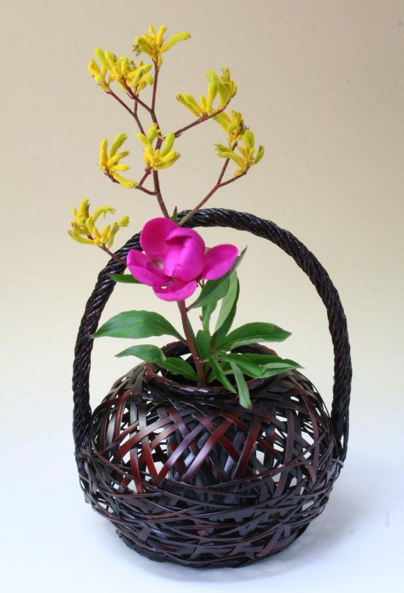 由布竹花篭 つゆくさ 国産 日本製 竹製 花を彩る インテリア 部屋が華やぐ 竹かご 篭 花が引き立つ 花瓶 置き物 花立て 小物雑貨