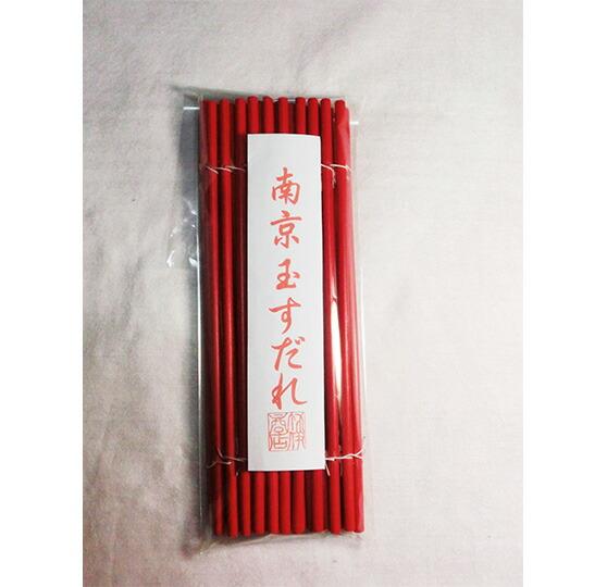 南京玉すだれカラー赤 25cm×43cm ひご44本 玉簾 オリジナル手引書付き 国産 日本製 竹製大道芸 伝統