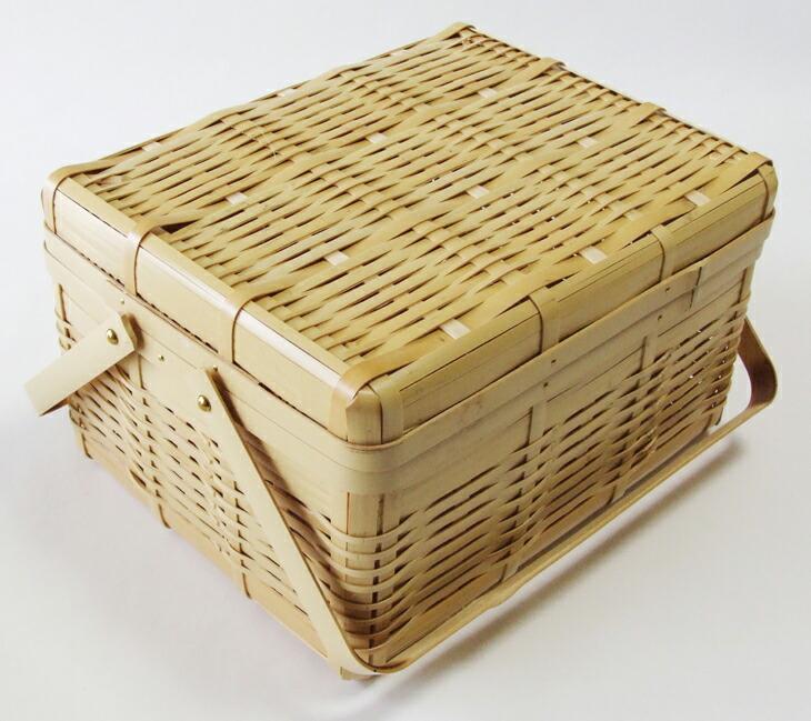 竹的手做篮子日本制竹竹豆腐篮子盖-