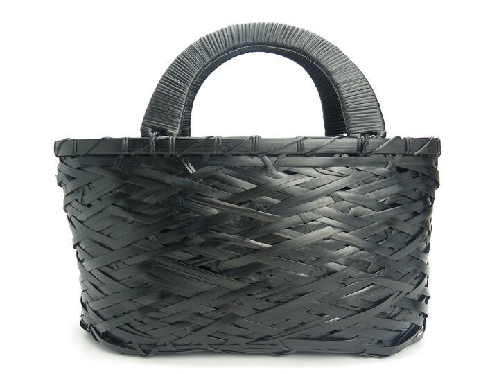 やたらバッグ 黒 17番 竹製 竹かご 竹バッグ かごバッグ かご 篭 籠シンプル ブラック ギフト