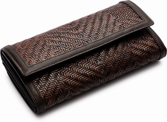 在庫要確認 マルチ財布 W19cm×D5cm×H10cm+19cm 黒 茶 国産 日本製 財布 さいふ サイフ ウォレット Wallet 籐 カゴ 外面 皮籐 側面 内側 牛皮 天然素材 工芸 職人手作シンプル ナチュラル 買い物 おでかけ 鞄 カバン