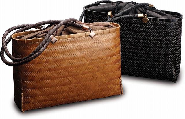 在庫要確認 網代ショルダーバッグ W35cm×D9cm×H23cm+27cm 黒 国産 日本製 かごバッグ カゴ 真竹 合皮 綿 天然素材 職人手作りシンプル ナチュラル 買い物 おでかけ 鞄 カバン