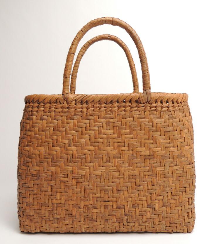 やまぶどうバッグ 中 32cm×11.5cm×24.5cm 山ぶどうバッグ 山葡萄 やまぶどう カゴ かごバッグ かばん 籠 ―