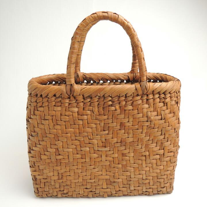 やまぶどうバッグ 小 27cm×21cm 22番 山ぶどうバッグ 山葡萄 やまぶどう カゴ かごバッグ かばん 籠 ―