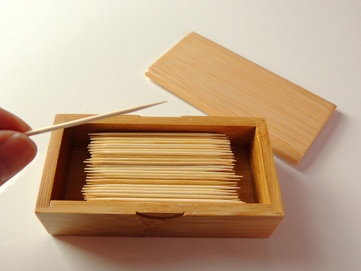 Toothpick Case Cover Made In Japan Made Of Lateral Installation Bamboo With The Desk Toothpick Holder Cover