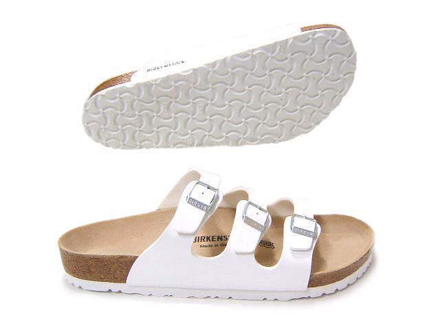 85ae75b84 takeiteasy: Fascinated by the feet with slender 3 strap I ♪ Birkenstock  Florida 054733 / white | Rakuten Global Market