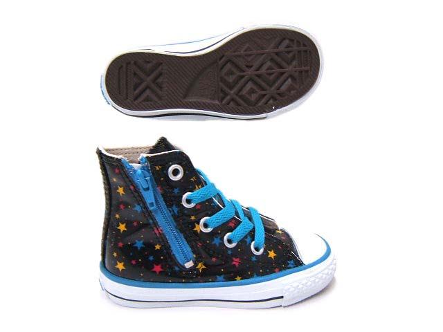 コンバースキッズシューズ コンバース子供靴コンバースキッズ 期間限定の激安セール YDKG-K ky 宇宙を表現した 売買 星柄をプリントした HI チャイルドオールスタースペースRZ コンバース
