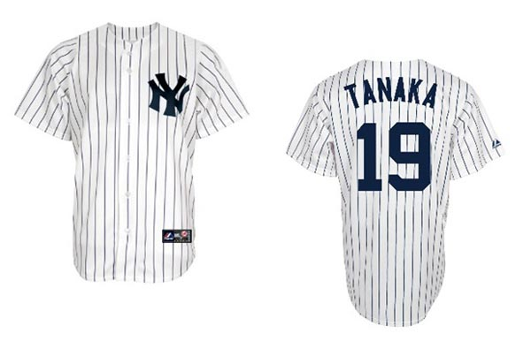 ヤンキース背番号19!田中将大投手送料無料 MLB REPLICA JERSEY 19 TANAKA