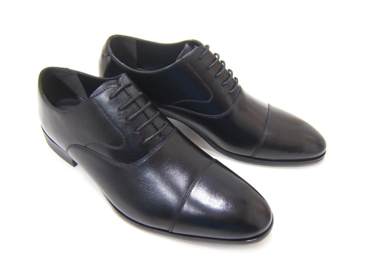 Made in JAPAN!上品な本革ビジネスシューズ!HIROKO KOSHINO/ヒロコ コシノ ビジネス紳士靴 ブラック ストレートチップ 内羽根3Eワイズ ビジネス 日本製 送料無料