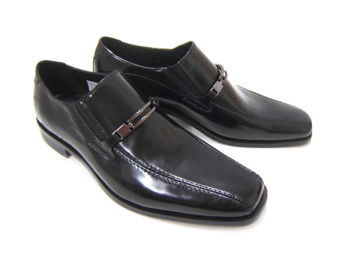 スラリと伸びるロングノーズで魅せる紳士靴!KATHARINE HAMNETT LONDON キャサリン ハムネット ロンドン 紳士靴 KH-3930 ブラック スリップオン ビット付き ローファー フォーマル ビジネス 送料無料