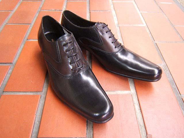 コンビアッパーで見た目にも上品な紳士靴!KATHARINE HAMNETT LONDON キャサリン ハムネット ロンドン紳士靴 31442 ブラック プレーントゥ ビジネス 送料無料