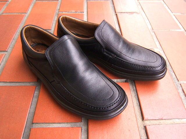 ビジネス&カジュアルで使える男の機能シューズ!ARUKURUN/アルクラン 紳士靴 スリップオン 1101 ブラック 送料無料