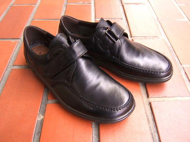 ビジネス&カジュアルで使える男の機能シューズ!ARUKURUN/アルクラン 紳士靴 ベルクロ Uチップ 1103 ブラック 送料無料