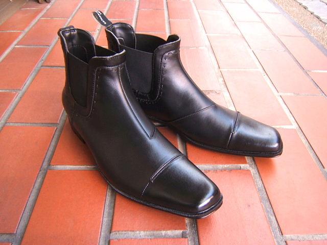 雨の日も安心のレインブーツスタイル!KATHARINE HAMNETT LONDON キャサリン ハムネット ロンドンサイドゴアブーツデザイン レインブーツ 紳士靴 31999 ブラック ストレートチップ 送料無料