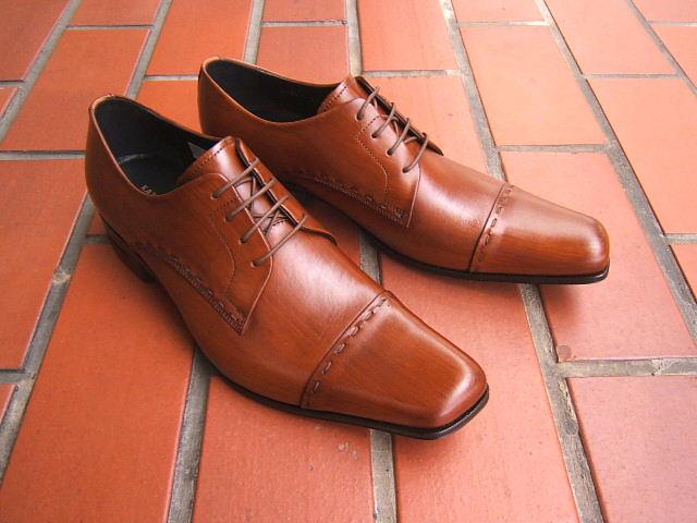 英国で培われた伝統のスタイルを正統継承!KATHARINE HAMNETT LONDON キャサリン ハムネット ロンドン紳士靴 31601 ブラウン ストレートチップ スクエアトゥ 送料無料