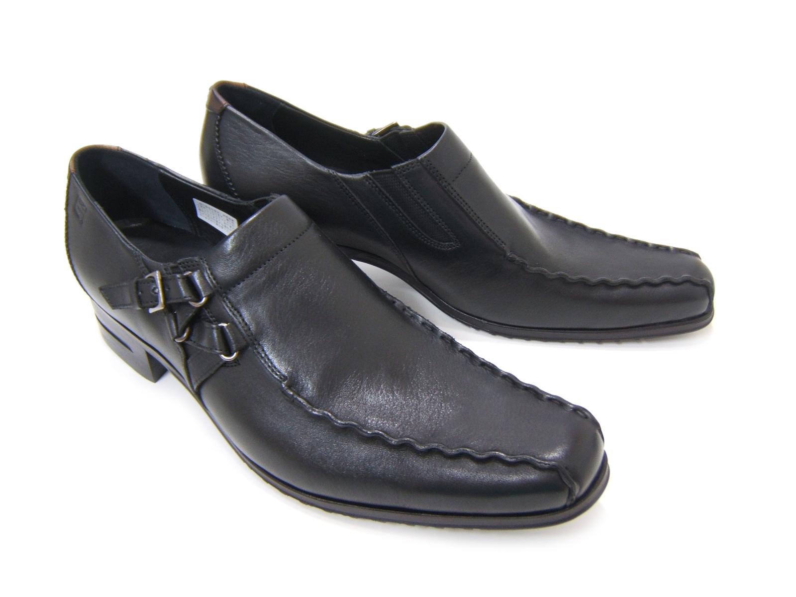 シンプルながら落ち着きのあるブリティッシュスタイル!KATHARINE HAMNETT LONDON キャサリン ハムネット ロンドン紳士靴 31554 ブラック スワールモカ 変形モンクストラップ カジュアル パーティ 送料無料